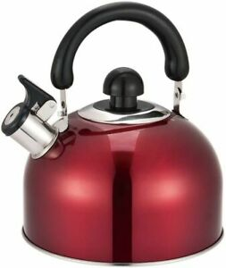 ELITRA Stainless Steel Whistling Kettle Tea Pot with Handle - 2.6 Qt/2.5L