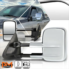 For 97-04 Ford F150/97-99 F250 Manual Extendable Chrome Side Towing Mirror Pair