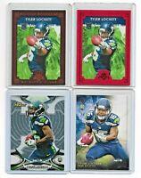 Lot of 4 2015 Tyler Lockett Rookie Cards SP Seattle Seahawks Football Cards