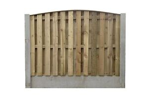 Double Sided Paling - Heavy Duty Fence Panel - Flat, Bow & Concave Top - £34.00
