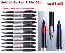 12 X UBA-188-L de aire Uniball Bola De Rodillo Pluma 0.7mm Negro Mitsubishi Genuino