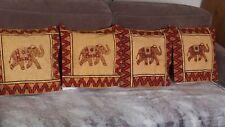Lot de 4 housses de coussins MAISON DU MONDE motifs ELEPHANTS 40 cm