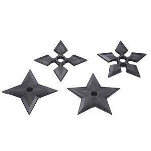 Polypropylene Plastic Martial Arts Ninja Throwing Stars Set Of 4 Theatre Props