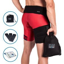 Hip Flexor Wrap Pulled Groin Support Thigh Compression Men Women Brace Sciatica