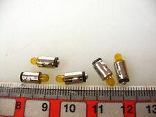 5 lots LED-ampoules ba5s knagge, jaune, 16-22 v pour Märklin Accessoires #led11-ge