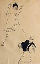 Karikatur Japan Japaner Drache Dragon Hang Gliding Drachen-Fliegen Ehefrau Hexe
