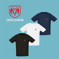 DODGE T Shirt EMBROIDERED Auto Car Logo Tee Sport Mens Clothing Accessories Gift