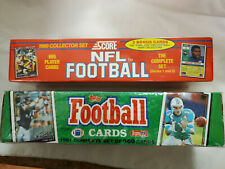 1991 Score and Topps NFL Full Sets of Football Cards, Unopened
