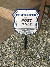 """Sign Stake Mounting Yard Post 11"""" Fits ADT Brinks Ring Home Security House Signs"""