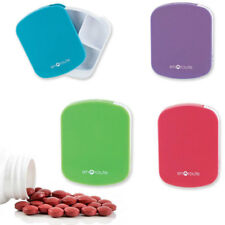 1 Pill Case 4 Compartment Travel Vitamin Medicine Tablet Storage Snap Container