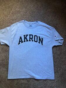 Champion University Of Akron Medium Gray T-Shirt