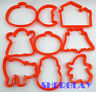 Wilton Halloween Cookie Cutters Plastic Lot of 9 Pumpkin Ghost Witch Cat NEW