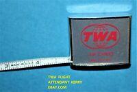 TWA AIRLINES RARE METAL ADVERTISING AIR CARGO BARLOW MEASURING TAPE MEASURE