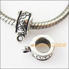10 New Clouds Tibetan Silver Bail Bead Fit Bracelet Chrams Connectors 9x13mm