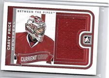 CAREY PRICE 2013-14 ITG BETWEEN THE PIPES CURRENT CROP SILVER GAME USED JERSEY