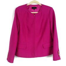 Talbots Womens sz 12 Pink Full Zip Textured Career Blazer Jacket