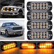 4X Amber 12 LED Car Truck Emergency Beacon Warning Hazard Flash Strobe Light BAR