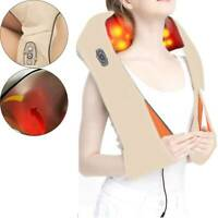 Neck Electric Shoulder Massager Back Kneading Pain Relief Massage Shiatsu Heat