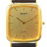 RADO 132.9555.2 MEN'S GOLD VINTAGE WATCH SWISS MADE QUARTZ