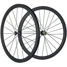 Carbon Road Wheels 38mm Tubeless Carbon Wheelset 25mm Width U Shape Bike Wheel