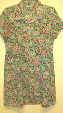 Old Navy Vintage Pretty Short Sleeve Flowered Button Dress Size 8