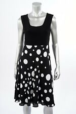 Women's Joseph Ribkoff Black/White Dots A-Line Dress Size 8 (UK 10) New 171621