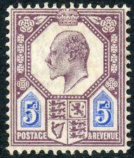 1902 DLR 5d dull purple & ultramarine unused o.g. Spec No M28 (1).
