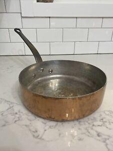 "Cordon Bleu #22 Paris Tin-Lined Copper 9"" Open Skillet Pan"