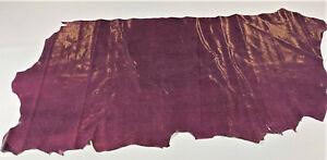 Purple Snake Leather Cow Hide Cowhide Accessory Wallet Bag Craft Avg 12 SqFt
