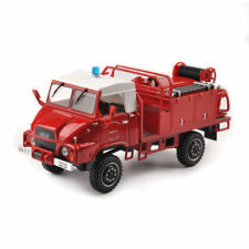 1/43 Scale Red Fire Truck Diecast Alloy Vehicles Car Model Collection Toys