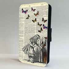 Alice In wonderland Book FLIP PHONE CASE COVER for IPHONE SAMSUNG