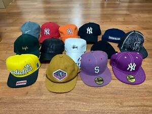 59fifty new era hats and multiple other snapback hats