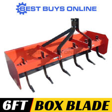 6 ft Box Blade Grader Scraper with 6 Rippers Heavy Duty for Tractor 3PL