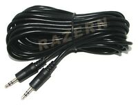 "25 ft 3.5mm 1/8"" mini plug stereo audio cable/cord M-M"