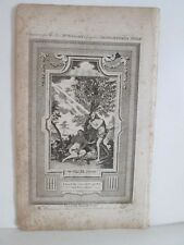 Vintage Print,ADAM+EVE,After the Fall,Wrights British Family Bible,C.1800