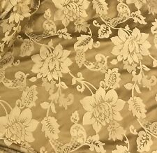 """Gold floral jacquardupholstery drapery fabric 110"""" width sold by the yard"""