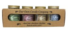 4 Pack Christmas 3.5 Ounce Mini Mason Jar Candles by Our Own Candle Company