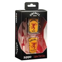 Zippo 49081, Fireball Whisky Street Chrome Lighter and Shot Glass Gift Set