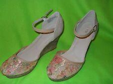 f04711f7bb51 Apt. 9 Women s Floral Lace Platform Wedge Sandals Size ...