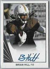 2017 Brian Hill SIGNED ROOKIE Leaf Ultimate Draft Rookie On Card Auto RC