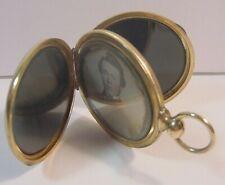 Daguerreotype Tinted Photo-Fancy Pocket Watch Type Case-Engraved