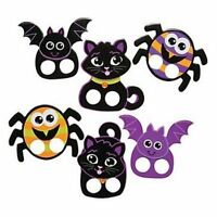 Pack of 12 - Cardboard Halloween Finger Puppets - Party Bag Fillers