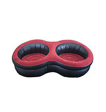 RELAX JILONG DELUXE INFLATABLE DOUBLE ARMCHAIR RED/BLACK