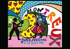 ROMERO BRITTO 1999 MONTREUX JAZZ POSTER (Thick Paper) ** NEW **
