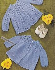 2 MATINEE COATS / 6 to 9 months - 4ply- COPY Baby crochet pattern