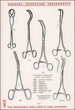 KIDNEY FORCEPS, CLAMPS, SURGICAL INSTRUMENTS, Catalog Pg., original 1935