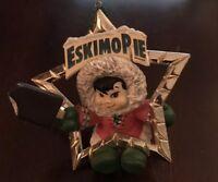 Vtg Eskimo Pie Ice Cream Bar Advertising Plastic Christmas Star Ornament