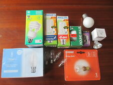 Selection of light bulbs-energy saver/candle/fridge/oven/round etc x 16