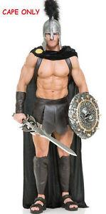 SPARTAN WARRIOR 300 ROMAN GREEK GLADIATOR THOR SUPERHERO COSTUME CAPE BLACK