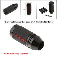 Black PU Leather Manual Car Auto Gear Shift Knob Shifter Lever Universal Models